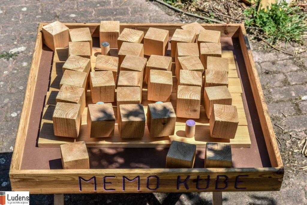 Memo-kube memoire stratégie jeu en bois
